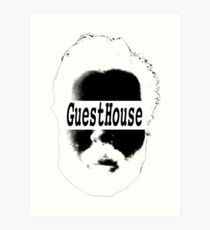 GuestHouse Face Logo White Art Print