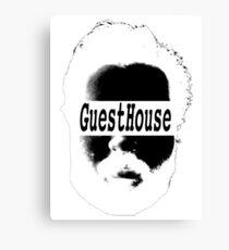 GuestHouse Face Logo White Canvas Print