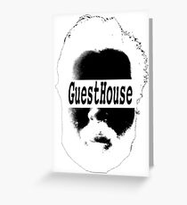 GuestHouse Face Logo White Greeting Card