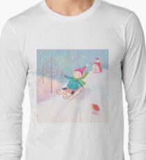 LITTLE BOY SLEDGING  T-Shirt