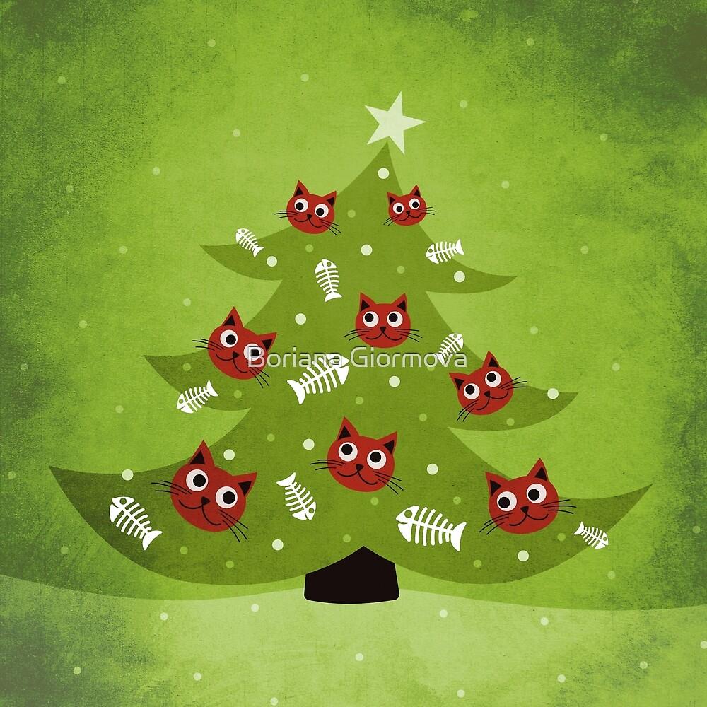 Cat Christmas Tree by Boriana Giormova