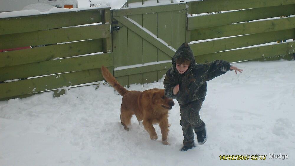 !A BOY & HIS DOG! by Heather Mudge