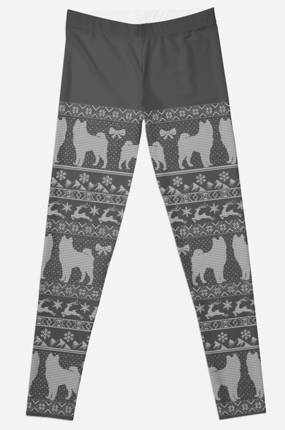 Ugly Christmas sweater dog edition - Akita / Shiba inu by Camilla Mikaela Häggblom
