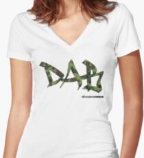 DAB camo Fitted V-Neck T-Shirt