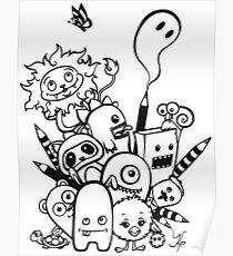 cartoony characters Poster