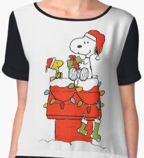Snoopy Christmas Women's Chiffon Top