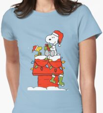 Snoopy Christmas Women's Fitted T-Shirt