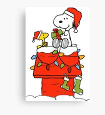 Snoopy Christmas Canvas Print