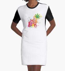 CBD Splash Graphic T-Shirt Dress