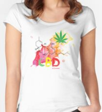 CBD Splash Fitted Scoop T-Shirt