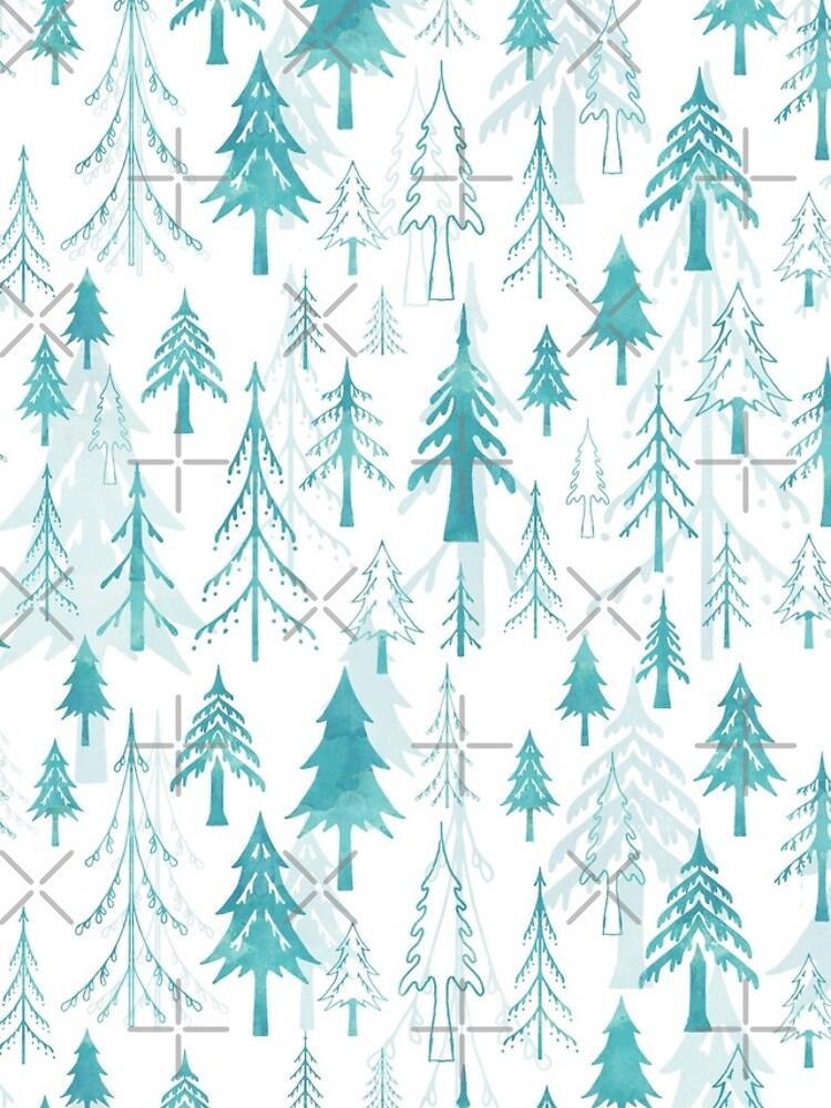 Christmas tree mix on white by adenaJ