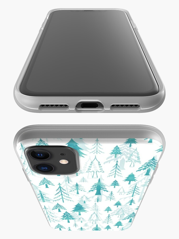 Alternate view of Christmas tree mix on white iPhone Case & Cover