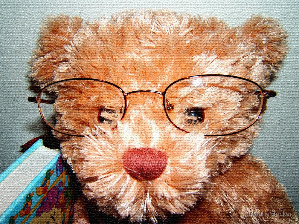 Intellectual Teddy by Dmarie Becker