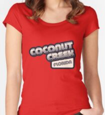 Coconut Creek, Florida | Retro Halftone Women's Fitted Scoop T-Shirt
