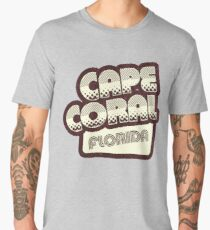 Cape Coral, Florida | Retro Halftone Men's Premium T-Shirt