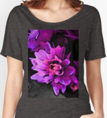 Still Life with Lavender and Pink Petals on a Grey Floor Women's Relaxed Fit T-Shirt