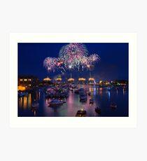 Bay City Michigan Fireworks Celebration Art Print