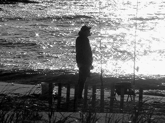 Fisherman at Dawn by Maria  Palumbo