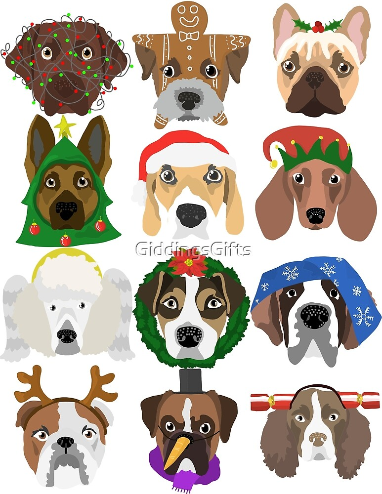 Christmas dogs by GiddingsGifts