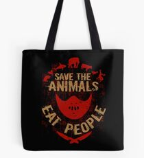 save the animals, EAT PEOPLE Tote Bag