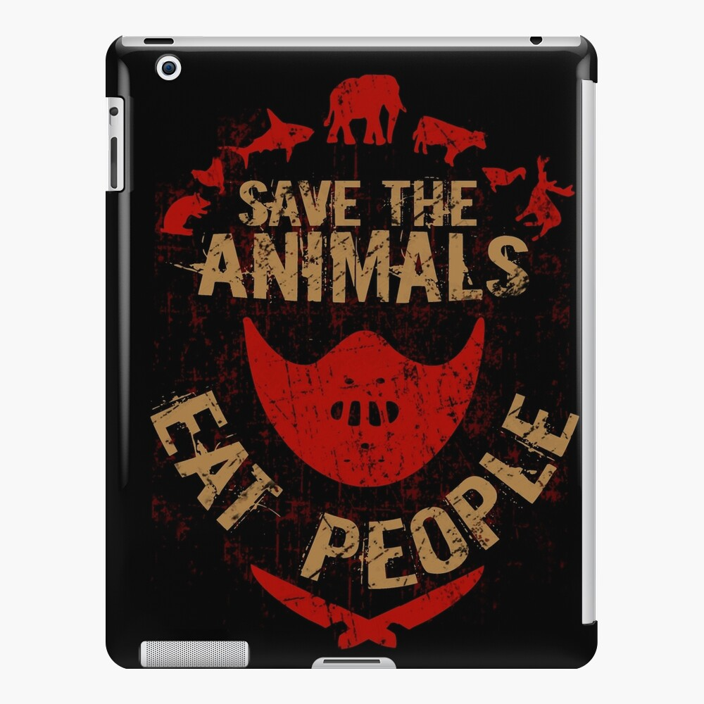 save the animals, EAT PEOPLE iPad Case & Skin
