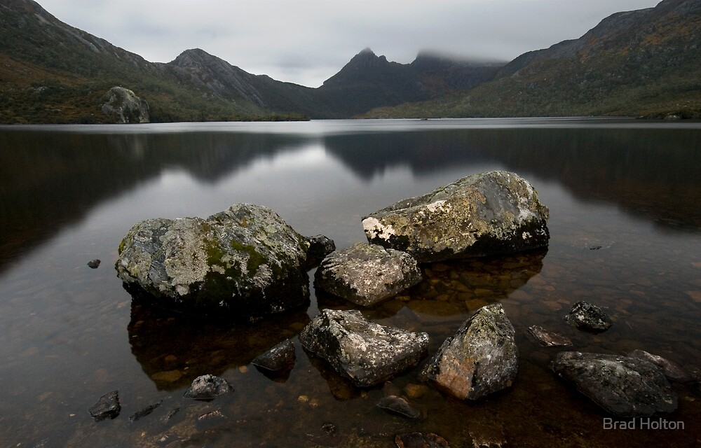 Cradle Mountain from over the rocks by Brad Holton