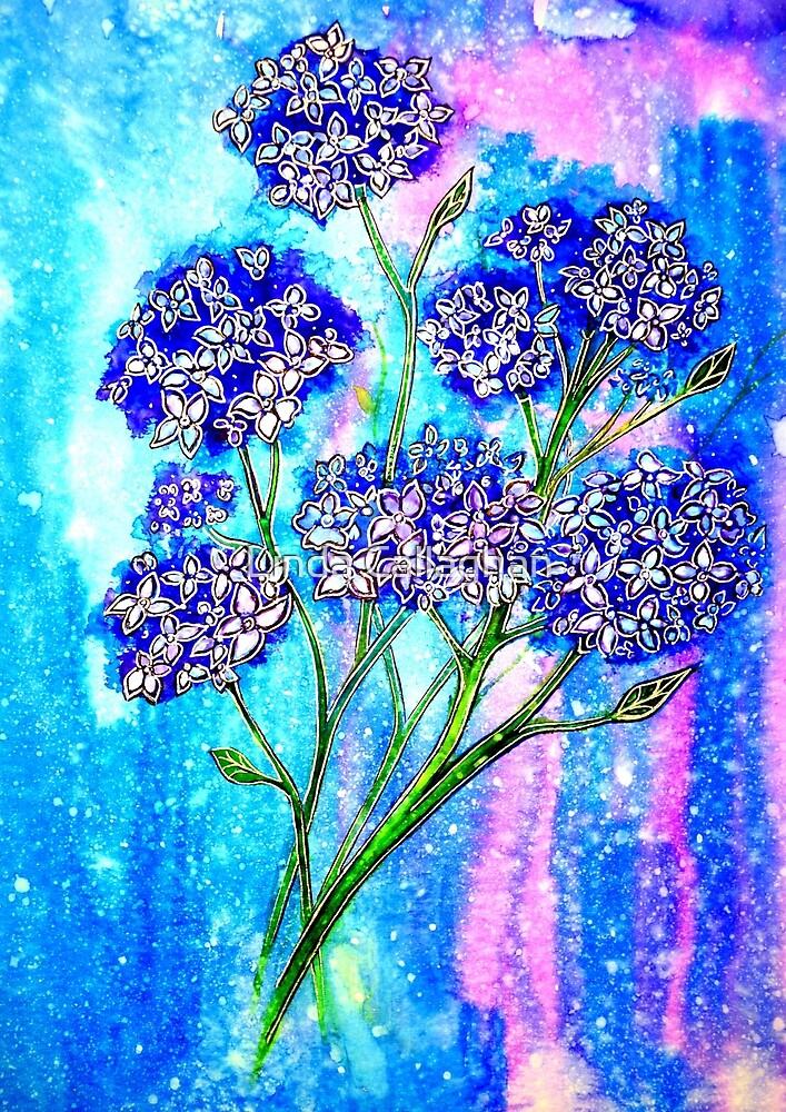 Burst of Spring - Hydrangeas by Linda Callaghan