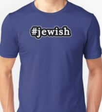 Jewish - Hashtag - Black & White T-Shirt