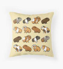 Guinea Pig Procession Throw Pillow