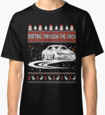 Drifting Through The Snow Ugly Christmas Sweater Classic T-Shirt