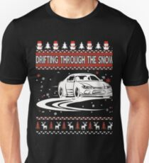 Drifting Through The Snow Ugly Christmas Sweater T-Shirt