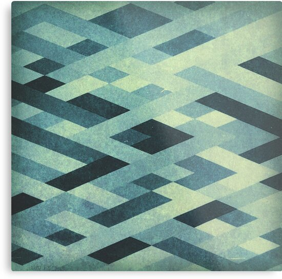Abstract Pattern in Blues by kreativcorner