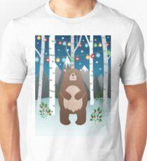 Christmas Bear in A Birch Forest T-Shirt
