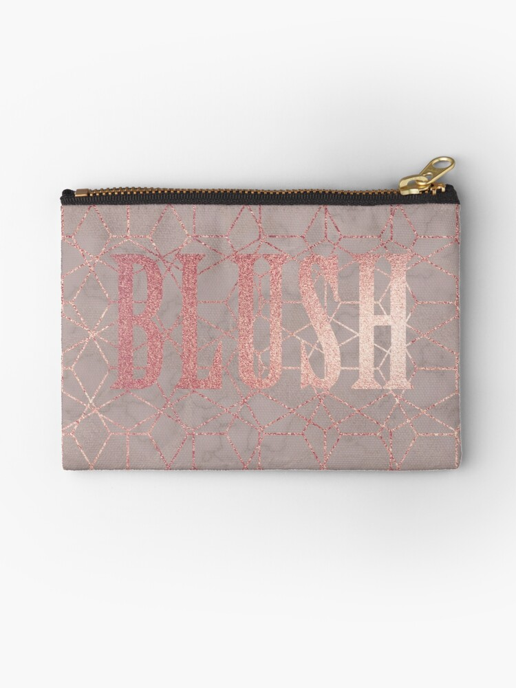Blush Shimmer Make Up Bag by claryce84