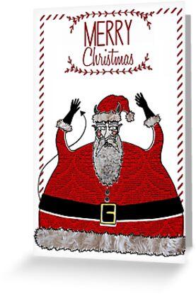 Devil Santa by Payasa Illustration