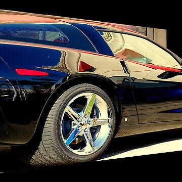 Black Satin Corvette by davesdigis