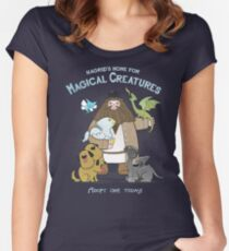 Hagrid's Home for Magical Creatures Women's Fitted Scoop T-Shirt