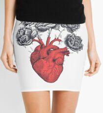 Heart with peonies Mini Skirt