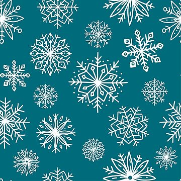 Seamless pattern with cute hand-drawn snowflakes. by SomStock