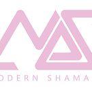 Modern Shamans Logo Bright Pink by sourceindie