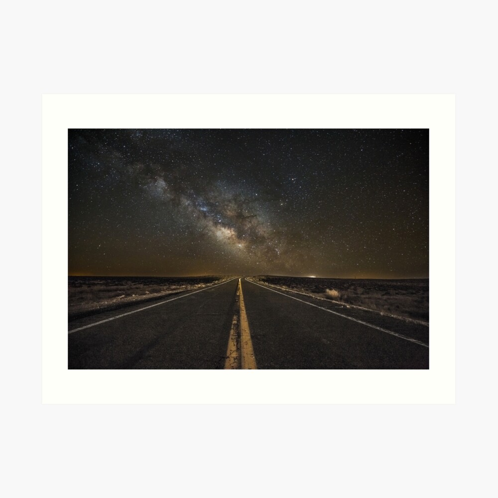 Go Beyond - Road Leads Into the Milky Way in Northern Arizona Art Print