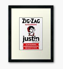 Zig zag justin trudeau Framed Print