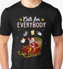 Cats For Everybody Funny Ugly Christmas Sweatshirt Unisex T-Shirt