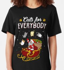 Cats For Everybody Funny Ugly Christmas Sweatshirt Slim Fit T-Shirt