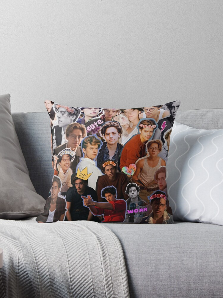 Quot Cole Sprouse Collage Quot Throw Pillows By Luxvida Redbubble