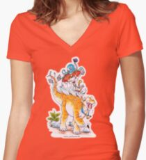 Unlikely Friends II Women's Fitted V-Neck T-Shirt
