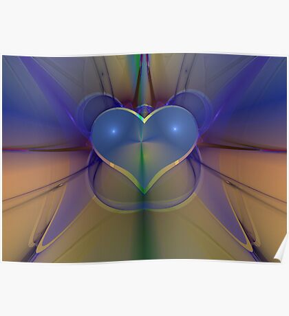 FRACTAL LOVE DIGITAL ART Poster