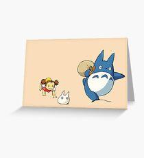 My Neighbor Totoro - Run Greeting Card