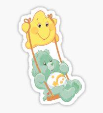 Care Bear on a swing Sticker
