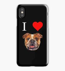 I Love English Bulldog T-shirt Dog Lover Tees  iPhone Case/Skin